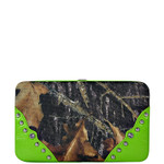 GREEN MOSSY CAMO FLAT WALLET LOOK FLAT THICK WALLET FW2-1275GRN