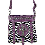 PURPLE ZEBRA CROSS MESSENGER BAG MB1-MZ001PPL