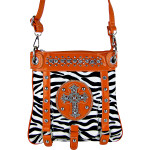 ORANGE ZEBRA CROSS MESSENGER BAG MB1-MZ001ORG