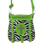 GREEN ZEBRA CROSS MESSENGER BAG MB1-MZ001GRN