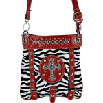 RED ZEBRA CROSS MESSENGER BAG MB1-MZ001RED