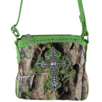 GREEN MOSSY CAMO CROSS LOOK MESSENGER BAG MB1-CHF0095GRN