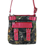 HOT PINK MOSSY CAMO BUCKLE MESSENGER BAG MB1-CA3217HPK