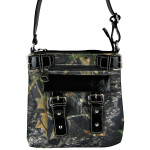 BLACK MOSSY CAMO BUCKLE MESSENGER BAG MB1-CA3217BLK