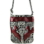 RED LEOPARD PRINT BUCKLE MESSENGER BAG MB1-C978RED