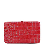 HOT PINK CROC FLAT THICK WALLET FW2-0306HPK