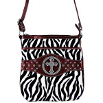 RED CROSS ZEBRA LOOK MESSENGER BAG MB1-9114RED