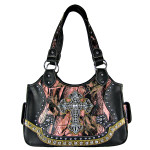 BLACK WESTERN MOSSY CAMO CROSS SHOULDER HANDBAG HB1-CHF0081BLK