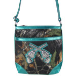 AQUA PISTOLS MOSSY LOOK MESSENGER BAG MB1-10101AQU