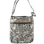 GRAY LEOPARD PRINT CROSS MESSENGER BAG MB1-C979GRY