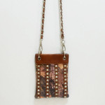 BROWN CAMO STUDDED RHINESTONE MINI MESSENGER BAG MB2-1205BRN