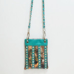 TURQUOISE CAMO STUDDED RHINESTONE MINI MESSENGER BAG MB2-1205TRQ