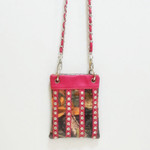 HOT PINK CAMO STUDDED RHINESTONE MINI MESSENGER BAG MB2-1205HPK