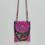 HOT PINK CAMO STUDDED RHINESTONE PISTOLS MINI MESSENGER BAG MB2-1206HPK