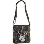 BROWN CAMO STUDDED RHINESTONE STITCHED DEER LOOK MESSENGER BAG MB1-AB8532BRN