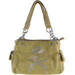 TAN RHINESTONE SKULL LOOK SHOULDER HANDBAG HB1-HC401-10TAN