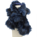 BLUE FUR COTTON NECK SCARF NS1-0153BLU