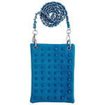 TURQUOISE COLORED STUDS MINI MESSENGER BAG MB2-1215TRQ