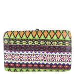 GREEN TRIBAL PATTERN DESIGN FLAT THICK WALLET FW2-0312GRN