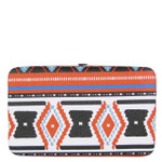 RED TRIBAL PATTERN DESIGN FLAT THICK WALLET FW2-0312RED