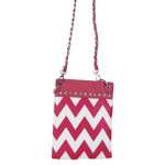 HOT PINK CHEVRON MINI MESSENGER BAG MB2-1218HPK