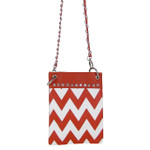 RED CHEVRON MINI MESSENGER BAG MB2-1218RED