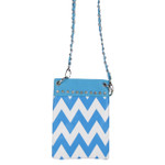 BLUE CHEVRON MINI MESSENGER BAG MB2-1218BLU