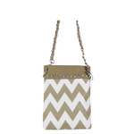 TAN CHEVRON MINI MESSENGER BAG MB2-1218TAN