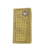 BEIGE CROCODILE STAR MENS CHECKBOOK WALLET MW2-0477BEI