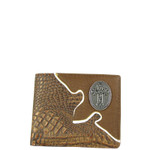 BROWN CROCODILE CROSS MENS WALLET MW1-0448BRN