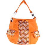 ORANGE LASER CUT DESIGN LOOK SHOULDER HANDBAG HB1-CA1605ORG
