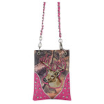 HOT PINK MOSSY CAMO DEER MINI MESSENGER BAG MB2-1222HPK