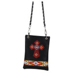 BLACK TRIBAL CROSS MINI MESSENGER BAG MB2-0417BLK