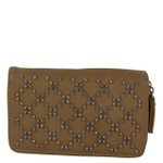 TAN STUDDED RHINESTONE LOOK FASHION WALLET FW1-0200TAN