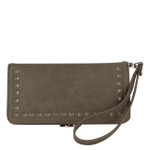 TAN STUDDED LOOK FASHION WALLET FW1-0202TAN