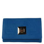BLUE PLAIN LOOK FASHION WALLET FW1-0203BLU
