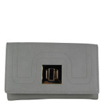 GRAY PLAIN LOOK FASHION WALLET FW1-0203GRY