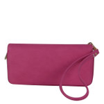 HOT PINK PLAIN LOOK FASHION WALLET FW1-0207HPK