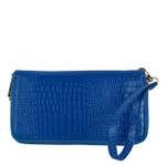 BLUE PLAIN CROCODILE LOOK FASHION WALLET FW1-0208BLU