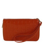 ORANGE PLAIN CROCODILE LOOK FASHION WALLET FW1-0208ORG