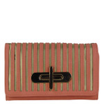 ORANGE STRIPED LOOK FASHION WALLET FW1-0209ORG