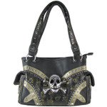 BROWN LEOPARD SKULL LOOK SHOULDER HANDBAG HB1-CHF1119BRN