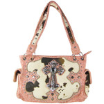 PINK COW CROSS LOOK SHOULDER HANDBAG HB1-CHF1114PNK