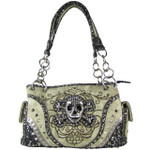 BEIGE SKULL DESIGN LOOK SHOULDER HANDBAG HB1-CHF0050BEI