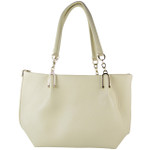 BEIGE PLAIN FLAT STUDDED DESIGN LOOK SHOULDER HANDBAG HB1-8709BEI