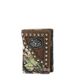 BROWN MOSSY CAMO BULL LOOK TRIFOLD WALLET MW3-0407BRN