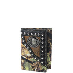 BLACK MOSSY CAMO WOLF LOOK TRIFOLD WALLET MW3-0411BLK