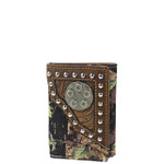 BROWN MOSSY CAMO TOOLED LOOK TRIFOLD WALLET MW3-0412BRN
