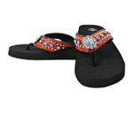 RED RHINESTONE FLOWER FASHION FLIP FLOP FF1-S062-1RED