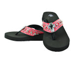 HOT PINK RHINESTONE CROSS FASHION FLIP FLOP FF1-S063-1HPK